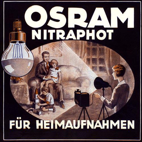 La pubblicità della Nitraphot della Osram.